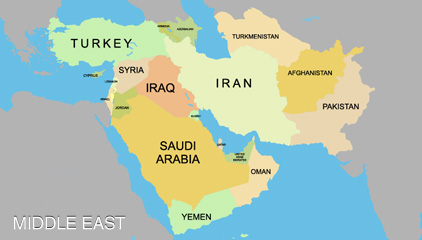 Middle East Asian Countries 91
