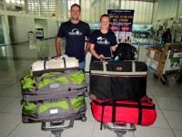 World Vets Disaster Response Team en route to Tacloban and Eastern Samar with over 100 kg of veterinary supplies to benefit animals affected