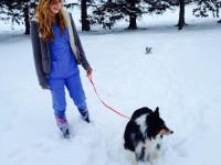 Maggie on a walk