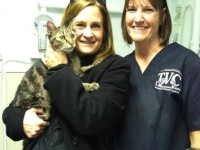 Stewart after his check up - pictured with Janet, CVT