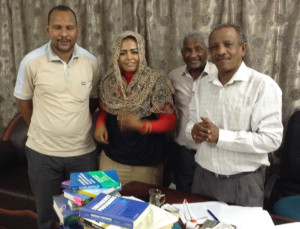 Sudan University of Bahri with donated textbooks