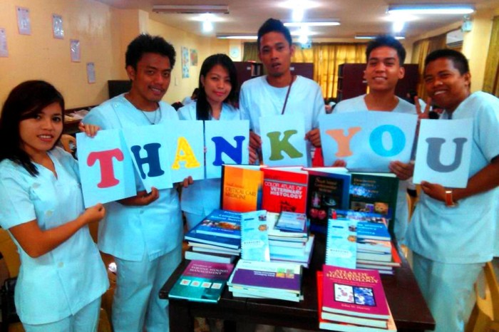 Textbook Donation Benefits Veterinary Students in the Philippines